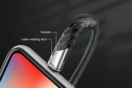 Snag 2 Pack Of 10 Ft MFi Certified Lightning Fast Charging Cord For $17 (Save $5)