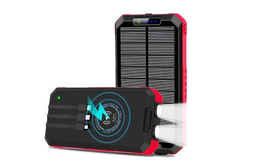 Charger Multiple Apple Device With This Wireless Portable Solar Power Bank At $33.99 Today On Amazon