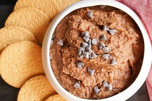 Decadent-Tasting Creamy Chocolate Hummus Recipe