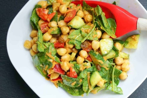 Creamy Curry Chickpea Salad Recipe