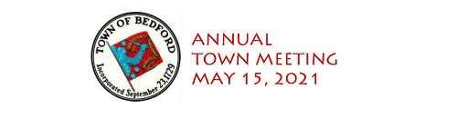 Everything You Need to Know ~ Annual Town Meeting Begins at 9 am on Saturday, May 15