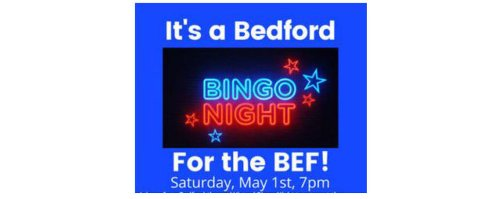 Bedford-Themed Bingo Night to Benefit the Bedford Education Association on Saturday, May 1