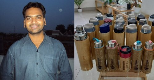 IFS Officer's Leak-Proof, Copper-Lined Bamboo Bottles are Great to Replace Plastic