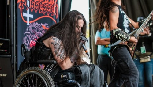 Possessed vocalist Jeff Becerra walks for the first time in 30 years