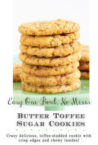 Crinkly Crackly Butter Toffee Sugar Cookies
