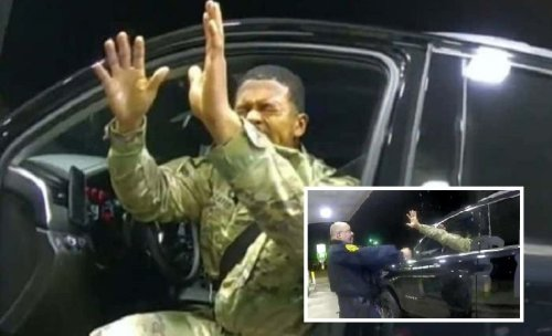 Police officer fired after handcuffs and pepper sprays army officer in illegal traffic stop, incident caught on video