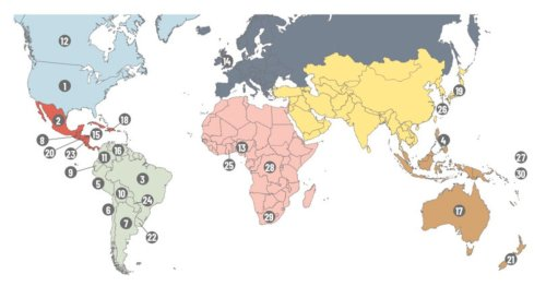 What are the countries with the most Latter-day Saints?