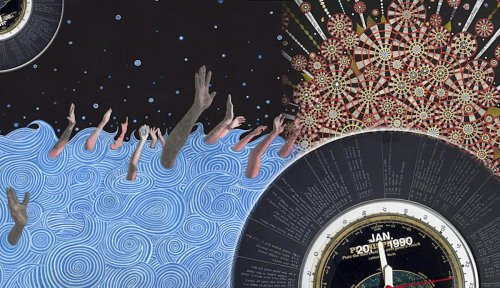 How Fred Tomaselli Combines Cosmic Theory, Daily News, & Psychedelics
