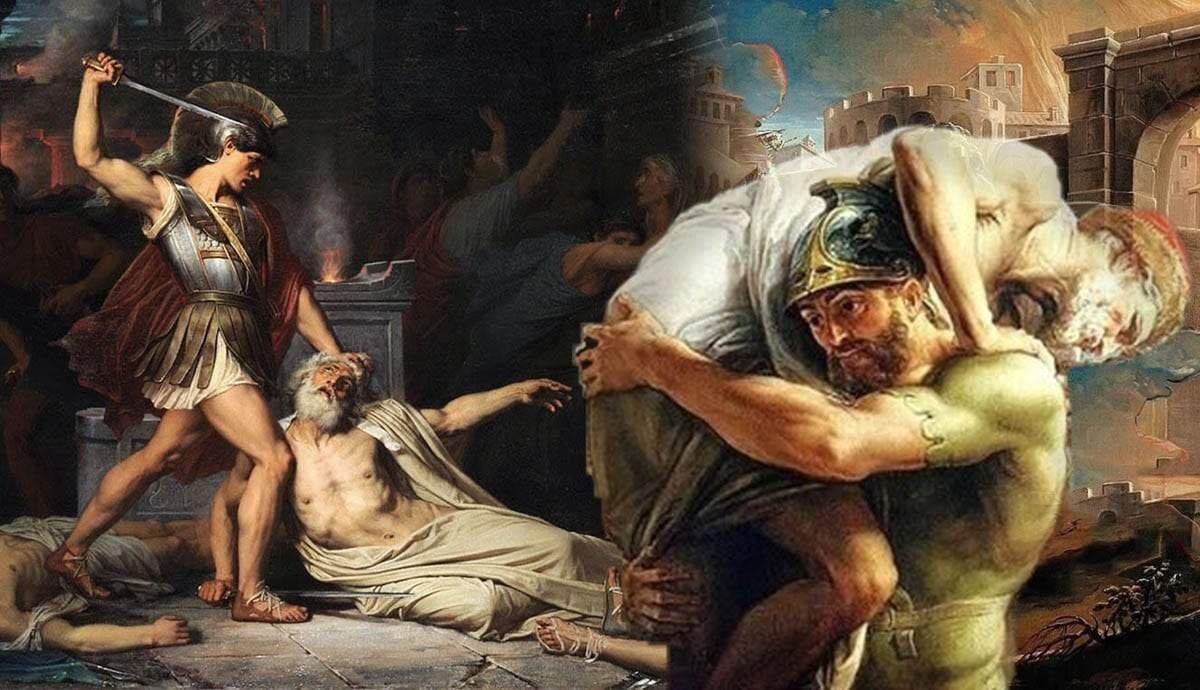 Virgil's Aeneid: The Adventures of Aeneas Described in 17 Artworks