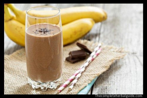Chocolate, Peanut Butter, Banana, and Almond Butter Breakfast Shake - The Complete Herbal Guide