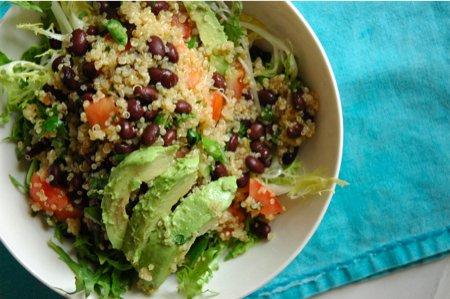 Green Bean and Black Quinoa Salad