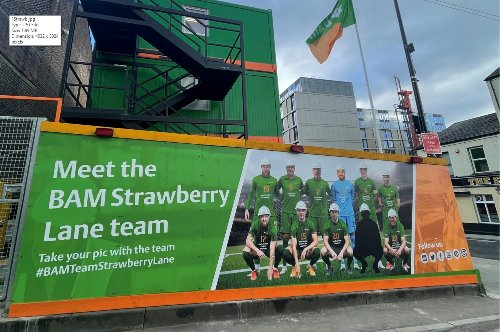 BAM gets creative for Newcastle site hoarding