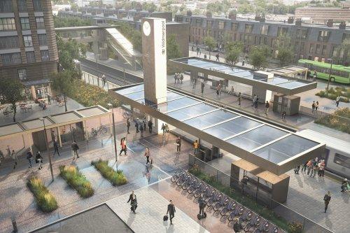 Model future railway station revealed
