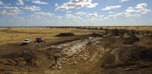 We moved hundreds of tonnes of rock to preserve the dinosaur footprints of the Snake Creek Tracksite