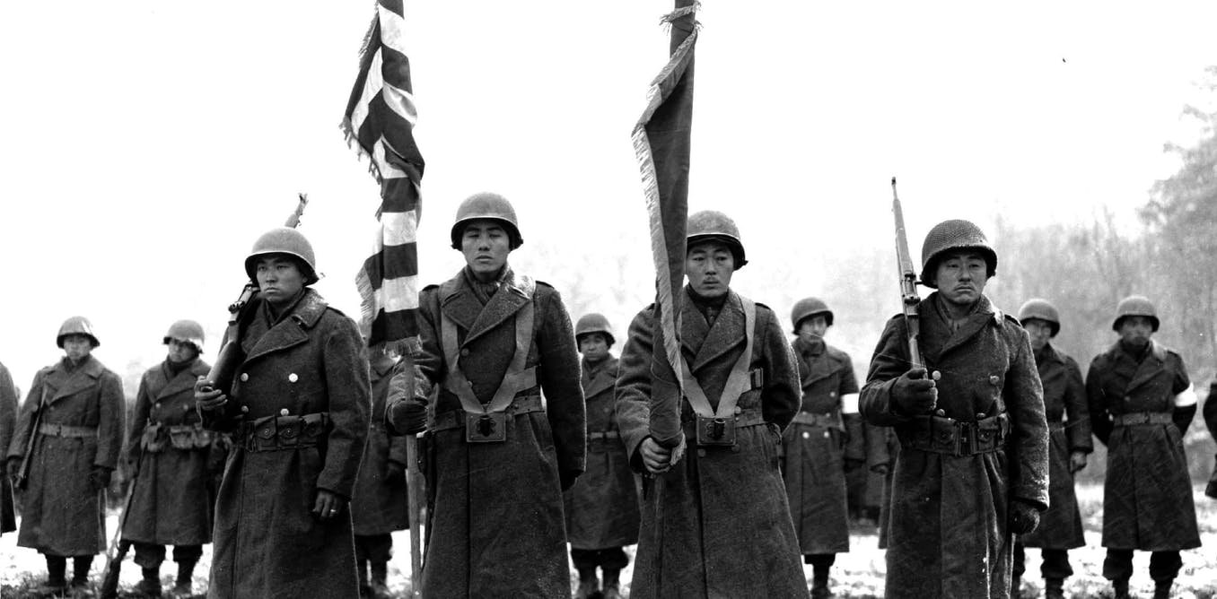 Japanese American soldiers in World War II fought the Axis abroad and racial prejudice at home
