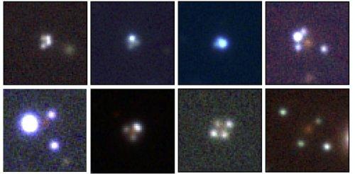 Courbure de l'espace-temps et trous noirs : découverte de douze nouveaux mirages gravitationnels
