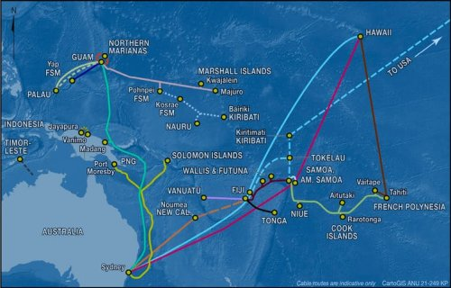 Undersea internet cables connect Pacific islands to the world. But geopolitical tension is tugging at thewires