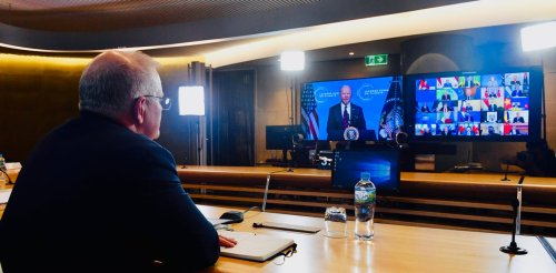 Spot the difference: As world leaders rose to the occasion at the Biden climate summit, Morrison faltered