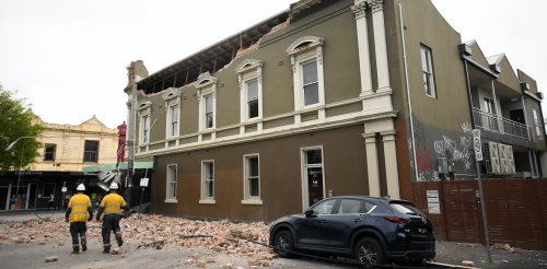 The earthquake that rattled Melbourne was among Australia's biggest in half a century, but rock records reveal far mightier ones