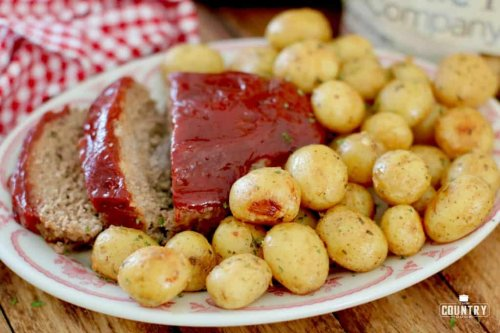 The Best Instant Pot Meatloaf and Little Potatoes