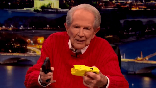 Pat Robertson—Yes, Pat Robertson—Lashes Out at Cops: 'They've Got to Stop This Stuff!'
