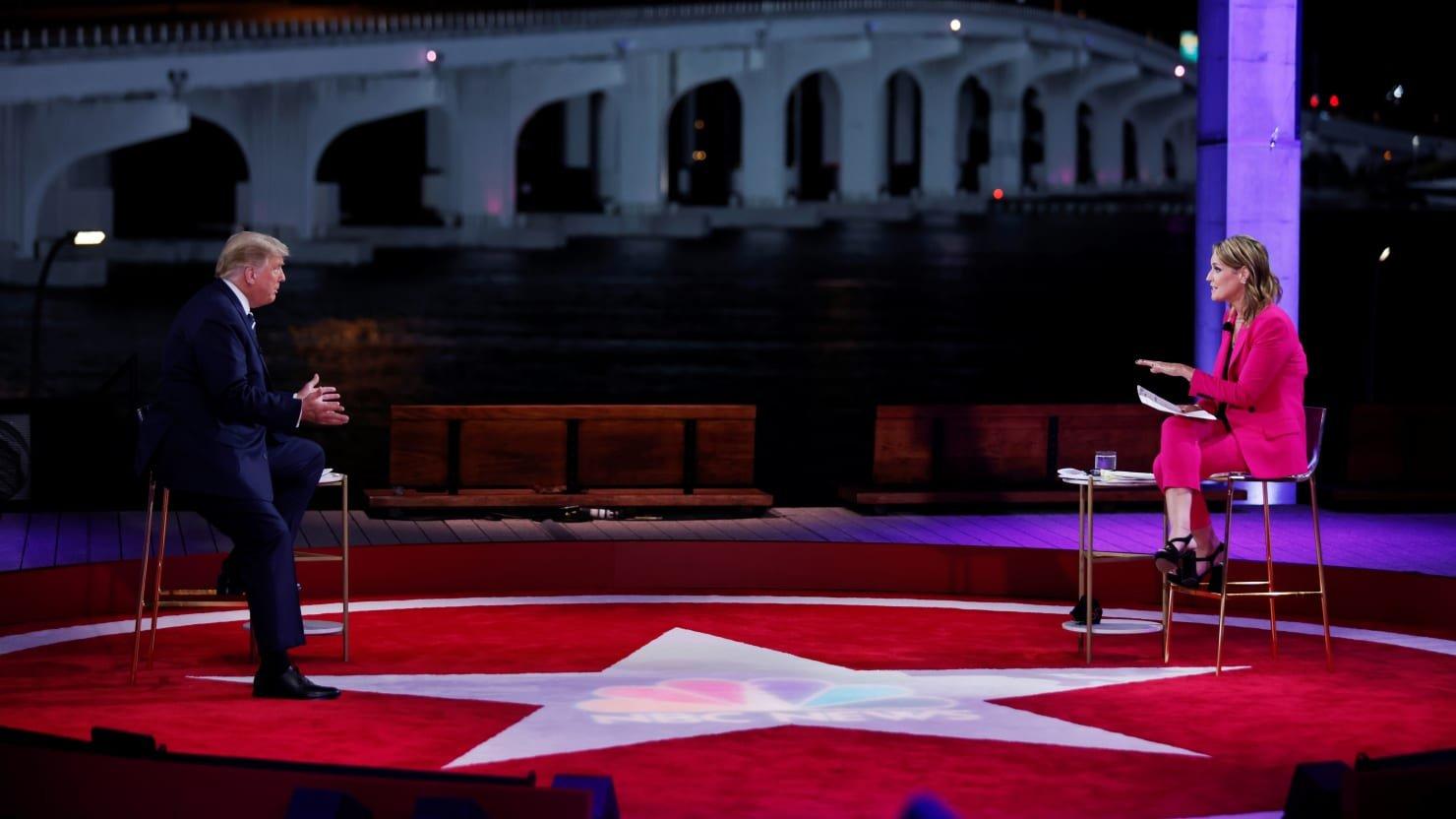 Trump Refuses to Denounce QAnon at NBC Town Hall
