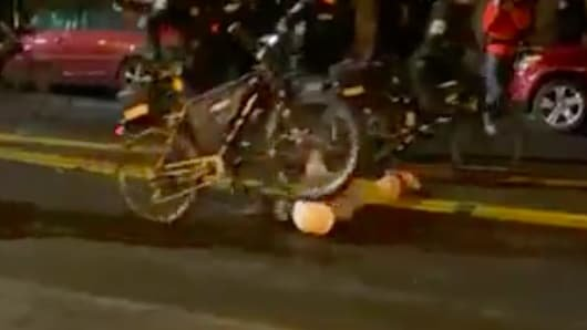 Shocking Video Shows Seattle Cop Rolling Bike Over Fallen Breonna Taylor Protester's Head and Neck