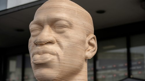 George Floyd Statue in Brooklyn Defaced With White Supremacist Group's Name
