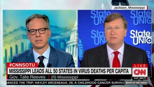 Jake Tapper Grills Bumbling Mississippi Guv on 'Heartbreaking' COVID Death Spiral