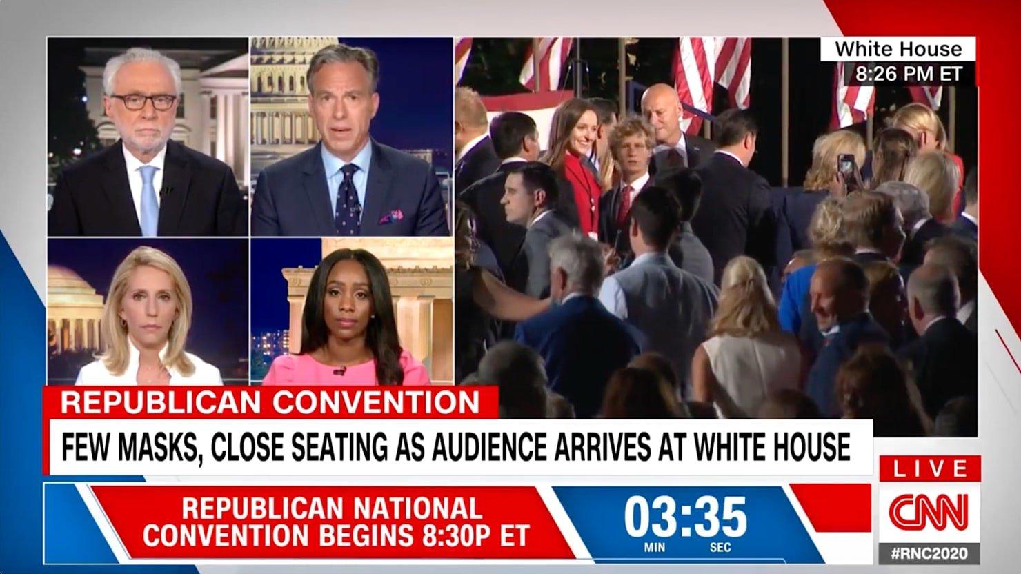 CNN's Jake Tapper Denounces Trump's RNC 'Super-Spreader Event'
