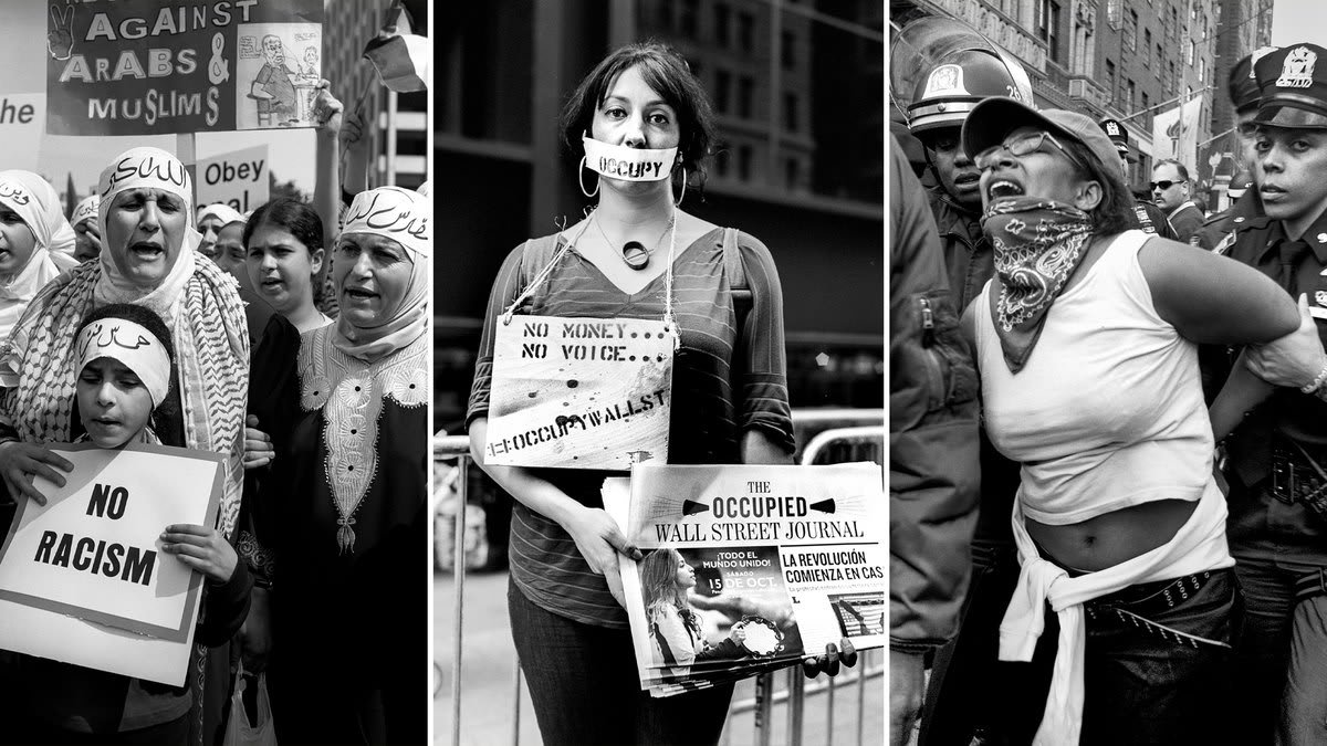 Street Protests Before the Age of Trump Had a Very Different Vibe