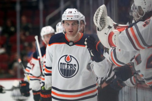 NHL Recaps: Hyman nets two for Oilers; Sharks stay unbeaten; Bruins down Sabres; and Stars edge Kings