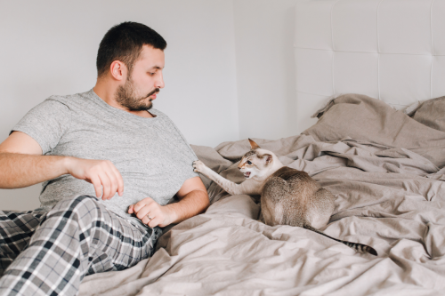 Why Does My Cat Sleep With Me and Not My Husband? 7 Reasons
