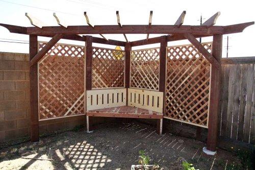 How to Build a DIY Garden Arbor with a Bench