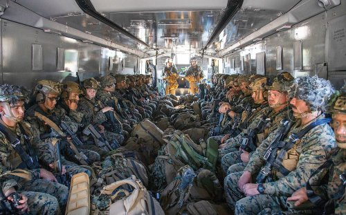 This Is Our First Look Inside A CH-53K King Stallion Fully Loaded With Marines