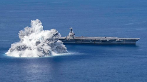 Shocking Images: America's Newest Aircraft Carrier Endures Explosive Tests Off Florida
