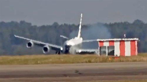Watch This RC-135 Spy Plane Make A Frightening Crosswind Landing In England