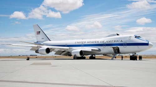 """E-4B """"Doomsday Plane"""" Just Made A Highly Unusual Visit To Secretive Tonopah Test Range Airport"""
