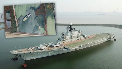 The Sad Story Of How This Soviet Aircraft Carrier Ended Up Rotting In A Landlocked Chinese Lagoon