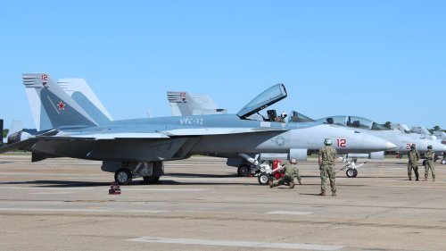 U.S. Navy Adversary Unit Reveals Super Hornet Masquerading As Russia's Top Fighter