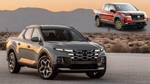 The 2022 Hyundai Santa Cruz Pickup Compared to the Honda Ridgeline