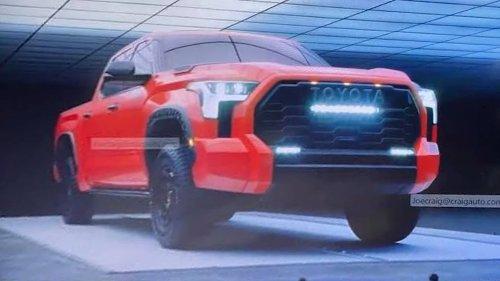 2022 Toyota Tundra TRD Pro Revealed in Leaked Dealer Shots