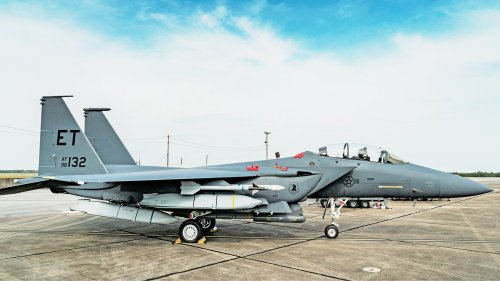 Five JASSM Stealth Missiles Have Been Loaded On An F-15E Strike Eagle For The First Time