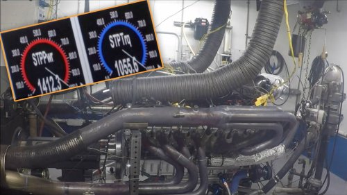 Listen to a 14-Liter, Naturally Aspirated V16 Blow Past 1,400 HP on the Dyno