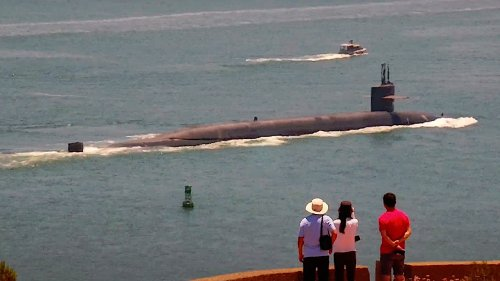 An Ohio Class Ballistic Missile Submarine Just Made A Rare And Very Quick Stop In San Diego