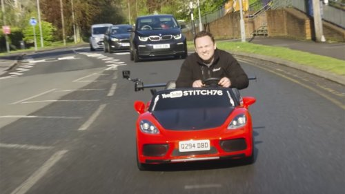 British Man Builds a Road-Legal Power Wheels and Drives It Literally Everywhere