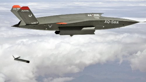 XQ-58A Valkyrie Uses Weapons Bay For First Time To Launch Smaller Drone