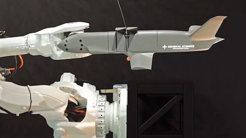 This Is Our First Look At How General Atomics' Sparrowhawk Drone Will Get Caught In Mid-Air
