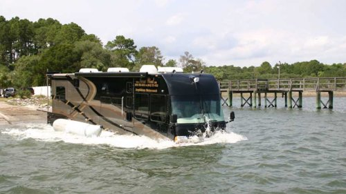 This Amphibious RV Is Real, and Yes, You Can Drive It Right Into a Lake