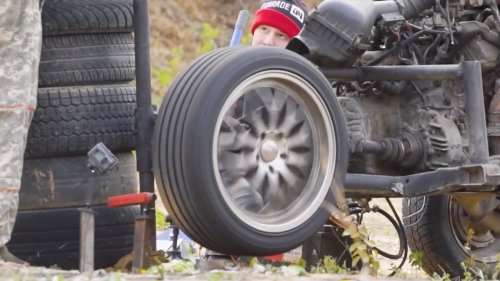 Here's What Happens When You Spin a Tire Faster Than the Speed of Sound